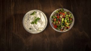Mast Khiar and Shirazi Salad
