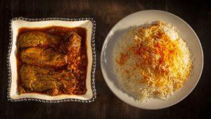 Gheymeh Bademjan Rice