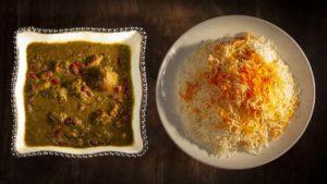 Ghorme Sabzi Rice